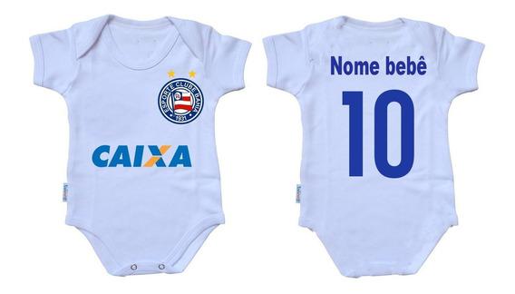 Body Infantil Nenê Personalizado Com Nome Time Bahia Salvado