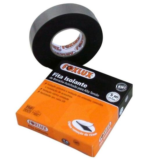 Fita Isolante Autofusão Alta Tensão 5 Rolos C/5m Cada Foxlux