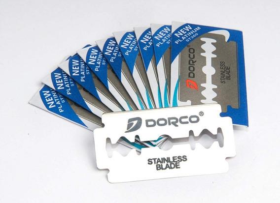 Navajas Dorco 100 Navajas = 10 Paquetes De 10 Hojas C/u
