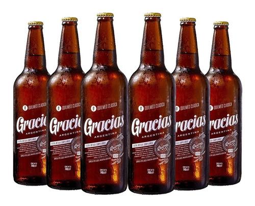 Imagen 1 de 10 de Quilmes Gracias . Cerveza . 740ml X6 - Tomate Algo® -