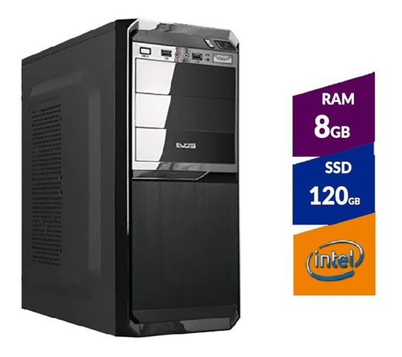 Pc Intel Pentium G5400 8ª Ger + Ssd 120gb + 8gb Ddr4 2400mhz