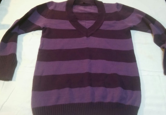 Sweater Mujer Violeta Media Estación Talle L