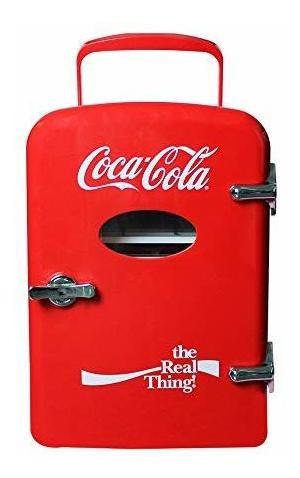 Imagen 1 de 1 de Dace Mini Refrigerador Termoelectrico Coca Cola 6 Latas, Roj