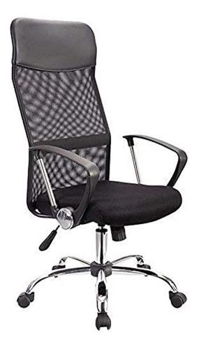 Silla de escritorio ADS Everest CB ergonómica  negra con tapizado de mesh