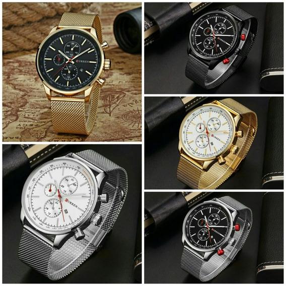 Promoção Relógio Masculino Curren Luxo Analógico Original