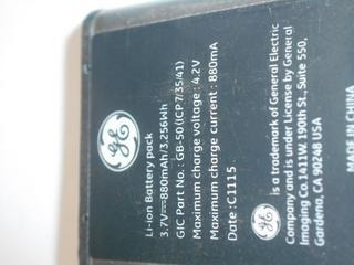 Bateria Câmera Ge J1470s
