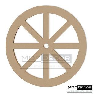 Roda De Carroça Mdf 60 Cm Decoração Festas Provençal Rc-002
