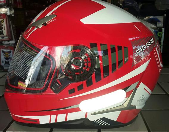 Capacete Nasa Sh 712 Speed Racing Vermelho N56 Promoção