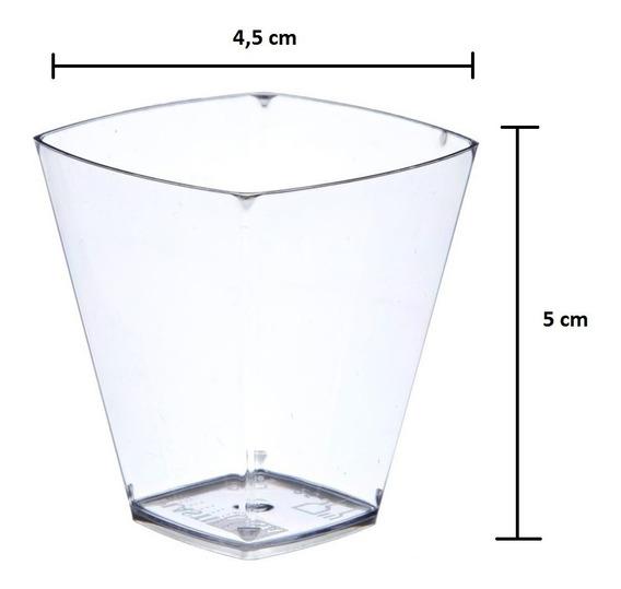 Copo Pic 051 Acrílico Cristal 50ml Brigadeiro + Colher 100un