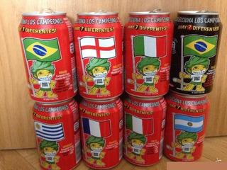 Lata Española Coca Cola Mundial Futbol Sudafrica 2010 C/u
