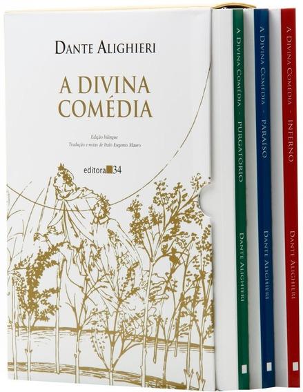 Livro: A Divina Comédia - 3 Volumes - Edição Bilíngue - Box