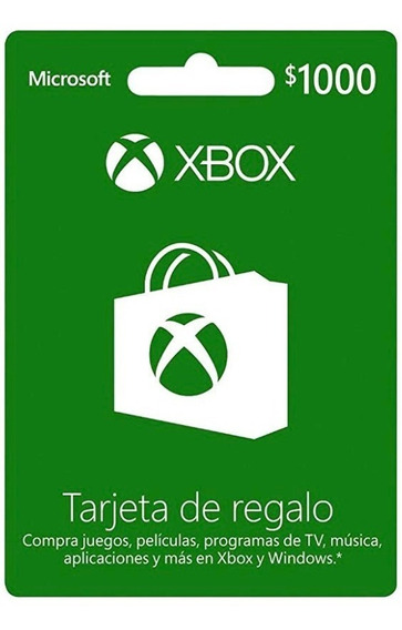 Tarjeta Xbox Gift Card De 1000$