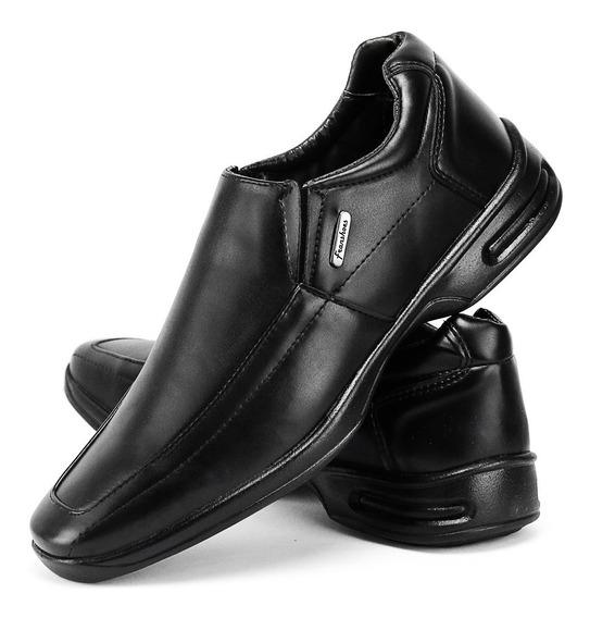 Sapato Social Masculino Antistress Ortopédico Palmilha Gel