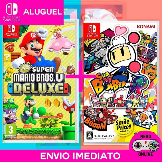 Super Mario Bros.u Deluxe + Bomberman - Switch (aluguel)