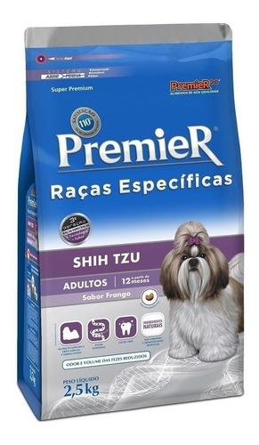 Ração PremieR Super Premium Raças Específicas Shih Tzu para cachorro adulto da raça pequena sabor frango em saco de 2.5kg