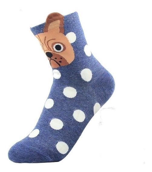 Pug Calcetines Perro Divertidos Kawaii Moda Bulldog