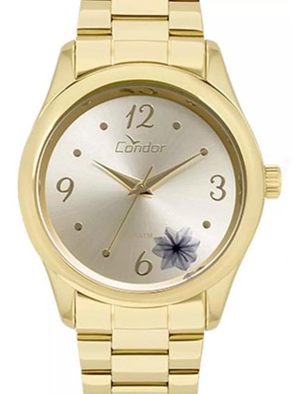 Relógio Condor Feminino Original Co2035kvx/4d Dourado + Nf-e