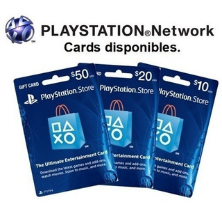 Tarjeta Playstation Store Psn Ps4 Ps3 Codigo Digital Acd