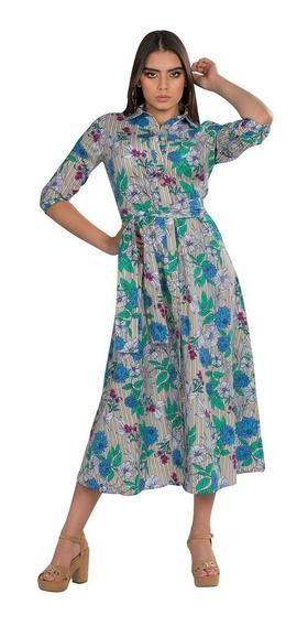 Vestidos Casual Mujer Largos Moda Floreados Primavera S91126
