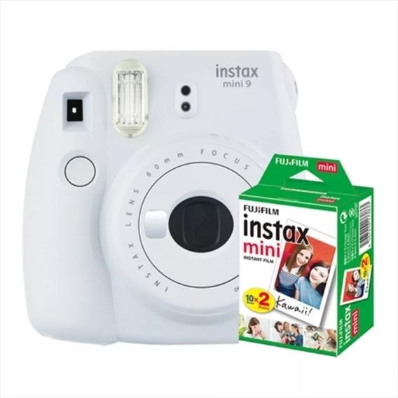 Câmera Instantânea Instax Mini 9 Branco Gelo + 20 Filmes