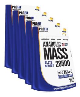 5x Hipercalórico Anabolic Mass 28500 3kg Total 15kg - Profit