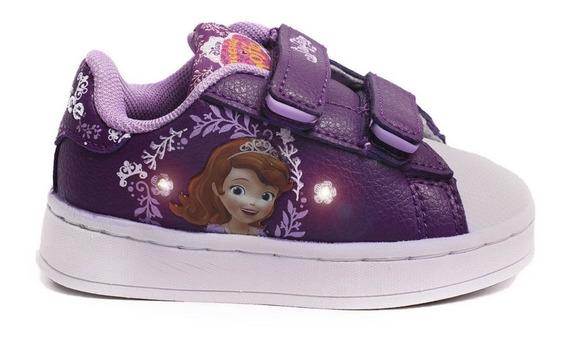 Zapatillas Addnice Baby Flow Sofia Velcro Violetas De Niños