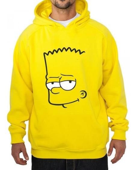 Blusa Casaco De Frio Bart Simpsons Moletom Canguru Com Capuz