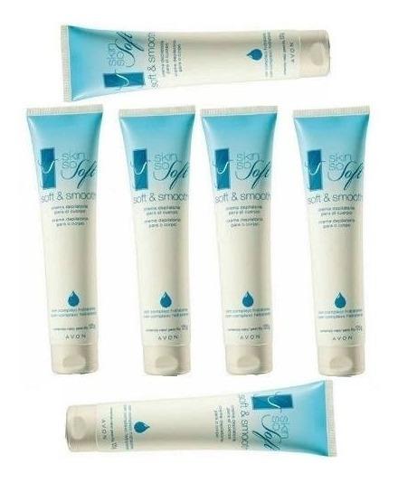 Kit Creme Depilatório Avon Para O Corpo Skin Soft 6und 125g