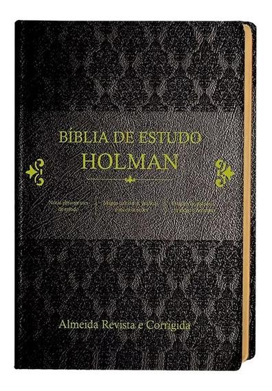 Bíblia De Estudo Holman - Preta Cpad Lançamento Com Caixa
