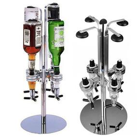 Porta Bebidas Giratório Dosador Dispenser Para 4 Garrafas