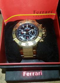 Relógio Ferrari Dourado Original