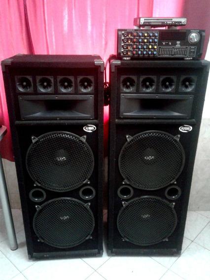 Cornetas Chinas Y Amplificador