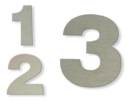 Número Dirección Frente De Casa Acero Inoxidable 12 Cm