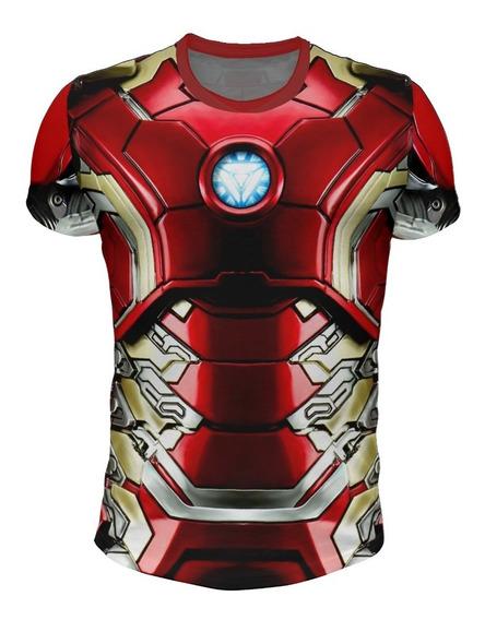 Remera Iron Man - Modelo Armadura X5 - Full Print