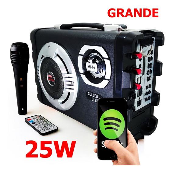 Caixa De Som Amplificada Com Microfone Controle Remoto 1507