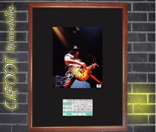 Cuadro Slash Foto Firmada Entrada Recital 1992 Guns N Roses