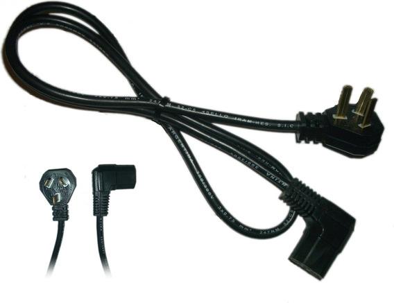 Cable Alimentación Interloc 90 (codo) Iram Power Pc Tv Led