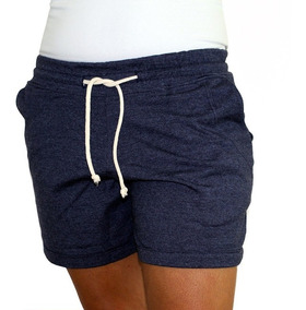 Short Feminino Cotton Azul