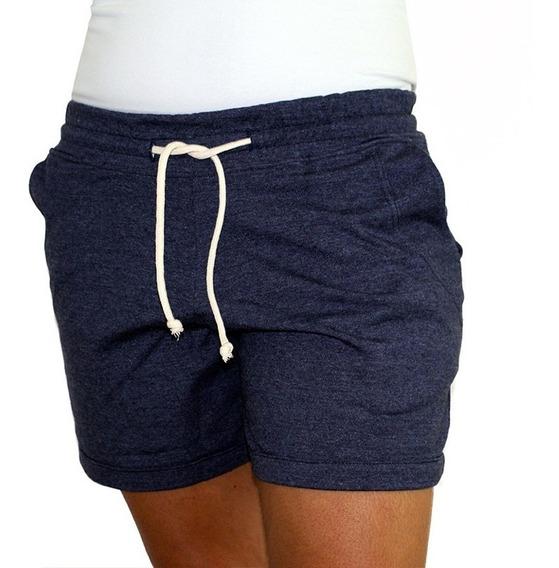 Short Feminino Cotton Azul