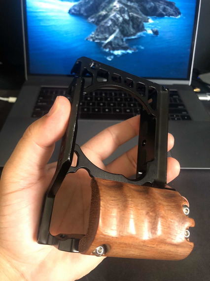 Cage Sony A6500 Smallrig Wood Com Punho De Madeira