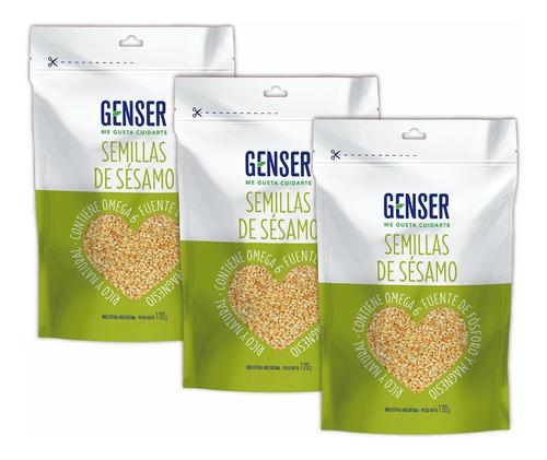 Semillas De Sésamo Genser 120 Grs. Pack X 3