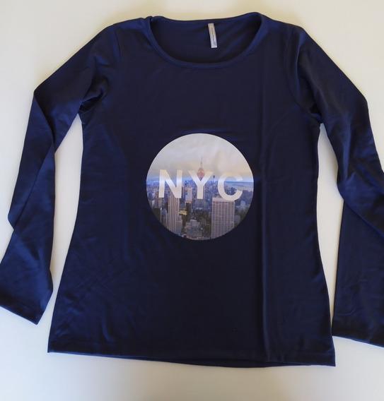 Remera De Modal Y Lycra Dama, Estampa New York City