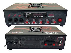 Amplificador Som Ambiente 300wrms Bluetooh Usb Mic Violão