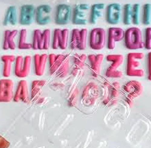 Molde De Acetato Abecedario Letras Alfabeto Bombones