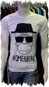 Camiseta Divertida Séries Simpsons Homerberg Breaking Bad
