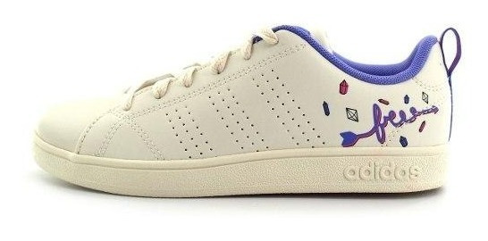 Tenis adidas-advantage Clean-blancos-niña- Db1937