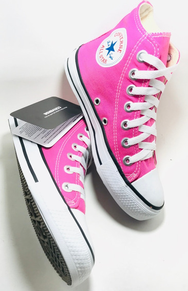 Tenis Converse All Star Kit 3 Prs Bota Turquesa/branco/pink