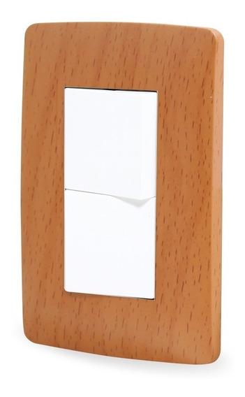 Apagadores Doble C/placa Toscana Wooden Sanelec