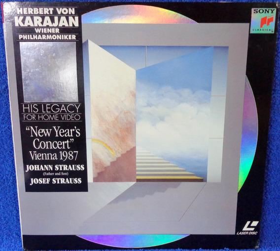 Laserdisc Herbert Von Karajan New Year´s Concert Vienna 1987