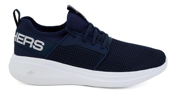 Tenis Skechers Para Hombre 55103x Azul Marino [ske201]